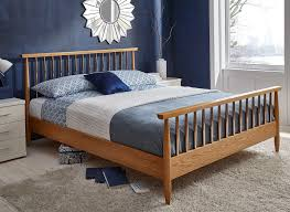 dunn oak and copper bed frame dreams