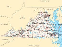 map of virginia and carolina with cities virginia map map of virginia