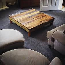 Diy Large Square Coffee Table by 20 Diy Pallet Coffee Table Ideas Low Profile S Thippo