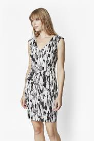 french connection record ripple fitted dress in black lyst