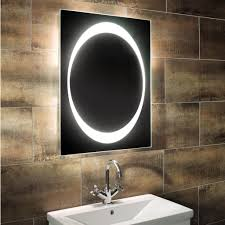 Mirror In The Bathroom by Bathroom Outstanding Oval Bathroom Mirror With Multisize Dots