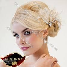 hair fascinators xcsunny made wedding feather hair fascinator headpieces