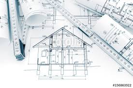 house construction plans rolls of technical drawings with plans and blueprints for house