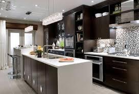 modern kitchen design with espresso cabinets modern kitchen