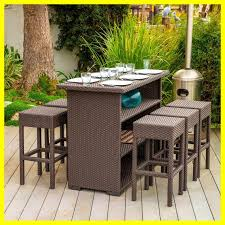 amazing outdoor patio furniture bar ideas picture of set and height