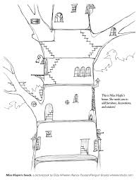 tree house coloring page free download