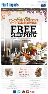 pier 1 imports thanksgiving email 2014 email newsletter exles