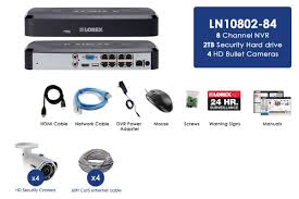 2k ip security camera system with 8 channel nvr and 4 hd outdoor