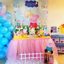 peppa pig decorations peppa pig cumpleaños telón de fondo de peppa por pinkarrowstudio