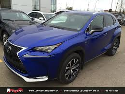blue lexus nx ultrasonic blue executive demo 2015 lexus nx 200t awd f sport