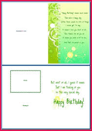 birthday card template word sop examples