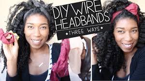 wire headband diy wire headbands bun wire ties no sew 3 ways