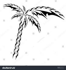 tribal palm vector object stock vector 33261376