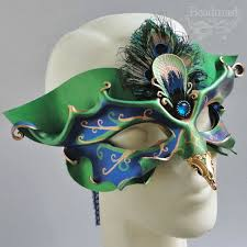 venetian bird mask goat or leather mask black curled horns by teonova on