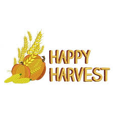 harvest thanksgiving filled machine embroidery design digitized