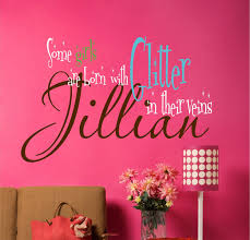 custom girls wall decals name wall decal some girls are