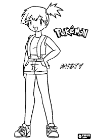 Pokemon Coloring Pages Misty   ash and his pokemon coloring pages getcoloringpages com