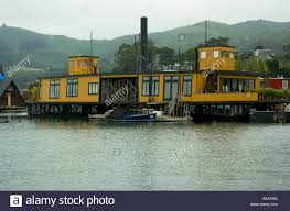 houseboats floating homes in the canals of richardson bay in