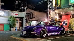 porsche rwb purple widebody heaven 18 rwb porsches in tokyo youtube