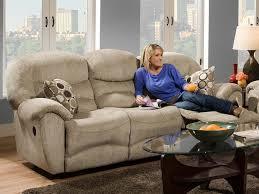 Chenille Reclining Sofa Living Room Havannah Reclining Sofa Smooth Lines Thick Plush