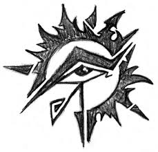 eye of horus sun design by kingofsnake on deviantart