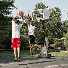 Adjustable Basketball Hoop Wall Mount Spalding 52 Inch Acrylic Backboard Combo Hayneedle