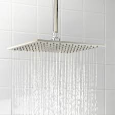 square rainfall shower head bathroom