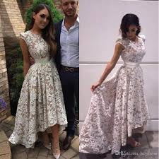 high low lace prom dresses 2017 new arrival special occasion