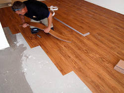 vinyl plank pvc flooring at rs 75 square green nagar