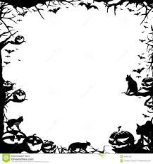 Halloween Border Black And White Landscape U2013 Festival Collections