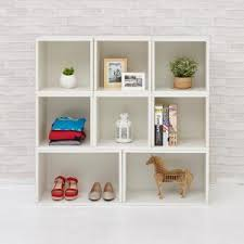 Bookcase Modular Way Basics Oxford Eco Zboard Tool Free Assembly White Stackable