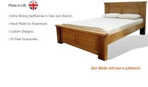 hand made beds in oak and walnut extra strong