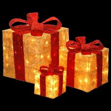national tree company pre lit gold sisal gift box assortment mzgb