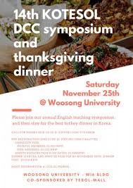 dc november symposium and thanksgiving dinner koreatesol