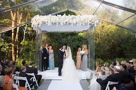 outdoor wedding venues chicago contemporary backyard white wedding clear tent in chicago