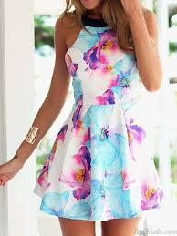 flower dress black braces strapless flower printing dress fashion dresses