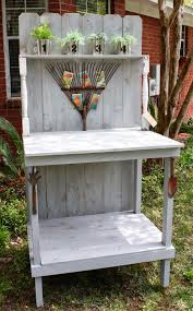 diy potting bench coastal charm vintage repurposed pinterest