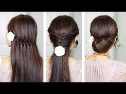 hairstyles for long hair at home videos youtube everyday quick easy hairstyles indian hairstyles for medium long