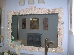 bathroom mirror ideas diy sea glass bathroom mirrors diy home
