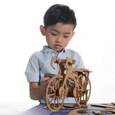 online shop 3d puzzle bicycle model paper craft kids educational