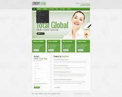 website template 38764 credit card debit custom website template