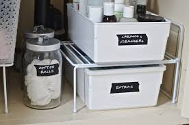 sink cabinet organizer tags under bathroom sink storage pull out