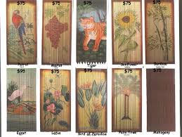 Painted Bamboo Curtains Handpainted Bamboo Curtains 160 00