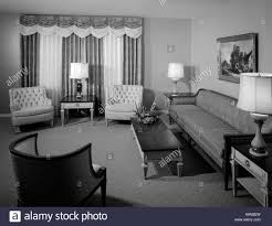 Formal Livingroom by 1960s Formal Living Room Interior With Full Length Drapes Painting