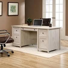 sauder edge water computer desk sauder edge water executive desk chalked chestnut walmart com