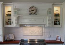Decorative Tile Inserts Kitchen Backsplash by Hand Pressed Floral Tiles Installed In Kitchen Backsplash