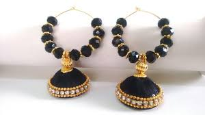 mridanee couture tsb03 beaded silk thread earrings comes in