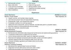 Diesel Mechanic Resume Examples by Resume Reference Template Haadyaooverbayresort Com