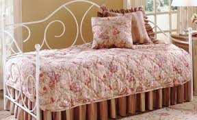 bed amber white daybed with trundle beautiful wrought iron