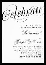 retirement announcement black white retirement party invitations retirement